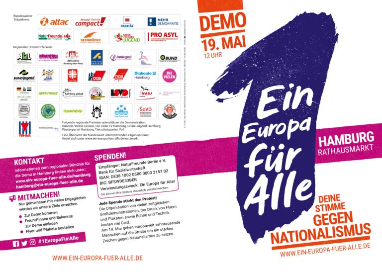 Ein EUROPA für ALLE 2019 - Front