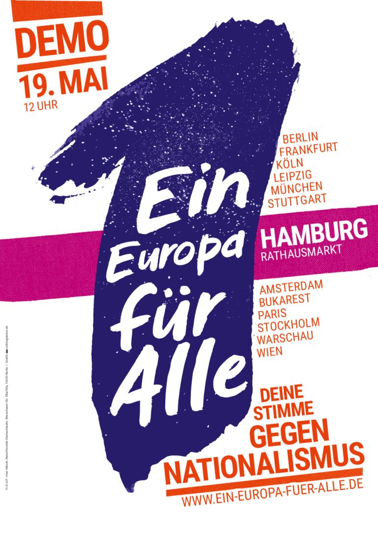 Ein EUROPA für ALLE 2019 - Plakat