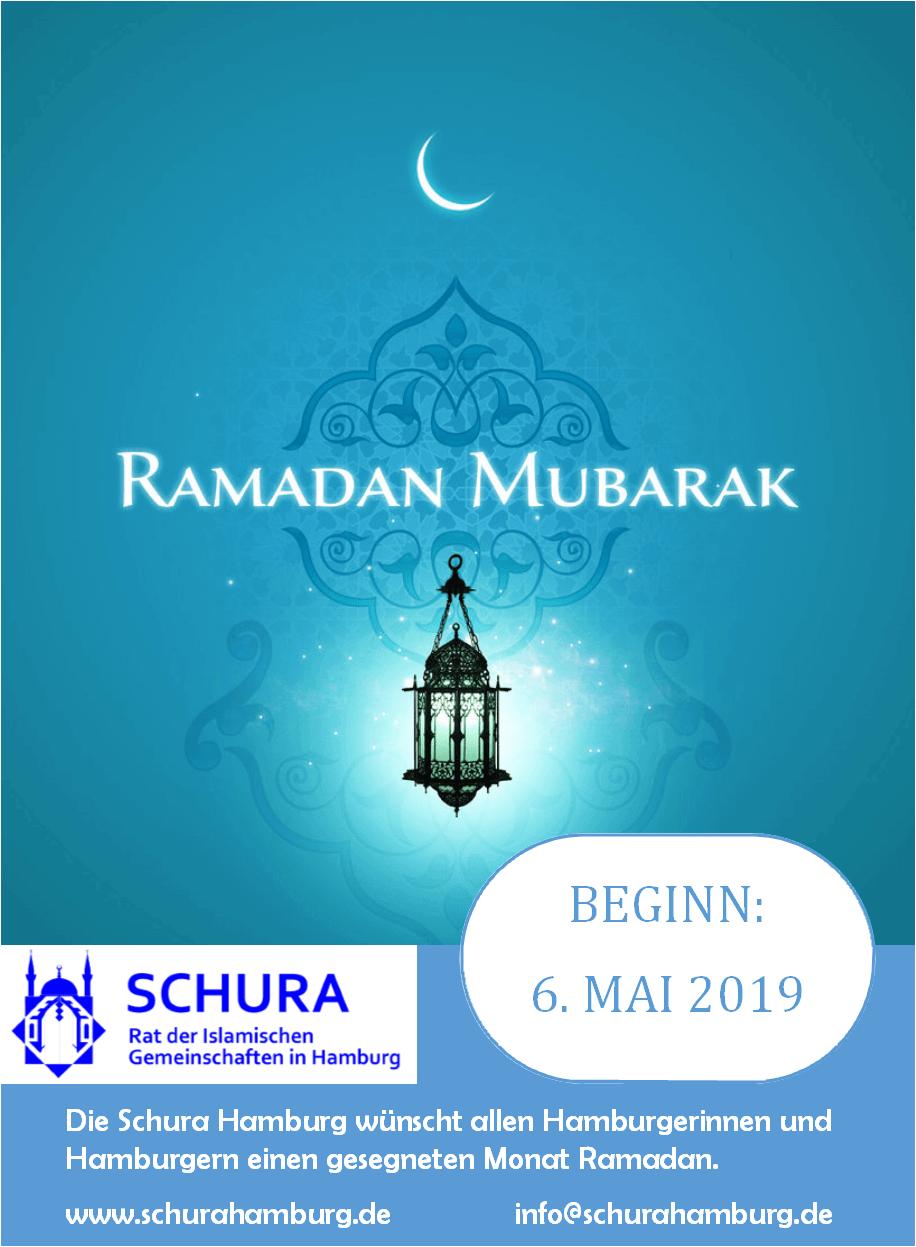 ramadan 2019 beginn – schura