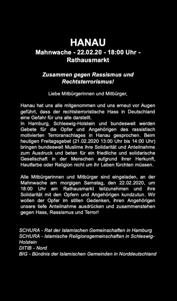 rechtsradikaler Terroranschlag in Hanau