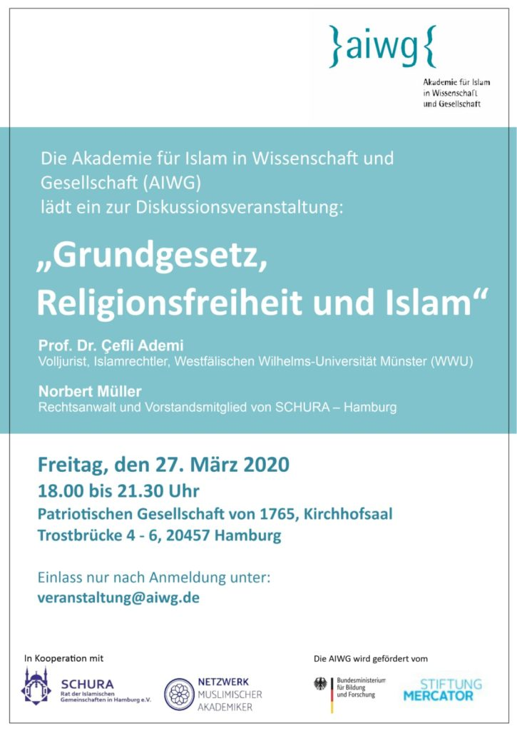 Schura aiwg Grundgesetz, Religionsfreiheit und Islam