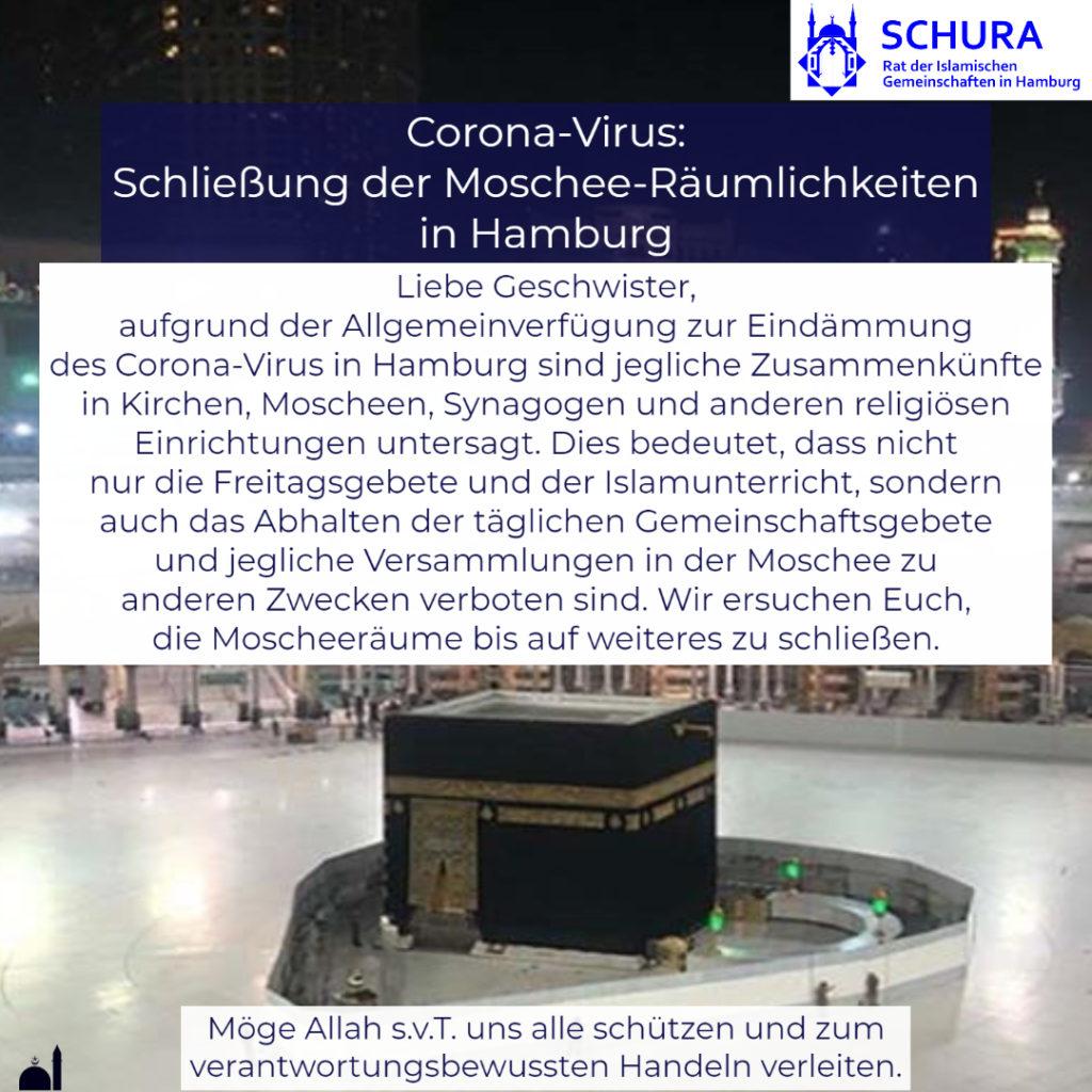 20200317 Schura Corona Moscheenschließung