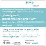 aiwg 2021 Grundgesetz, Religionsfreiheit und Islam