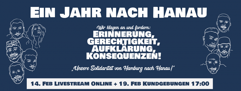 Solidarität mit Hanau 19 februar